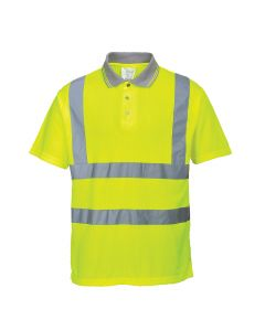 Portwest Hi-Vis Ribbed Polo Shirt - S177