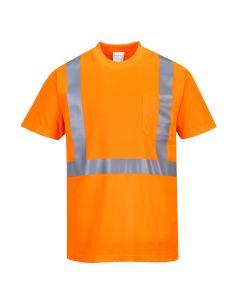 Hi-Vis Pocket T-Shirt - S190ORR4XL
