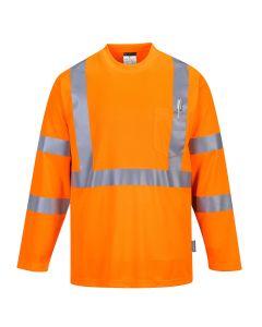 Hi-Vis Long Sleeve Pocket T-Shirt - S191ORR4XL