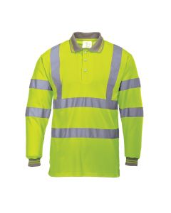 Portwest Hi-Vis Long Sleeved Polo - S277
