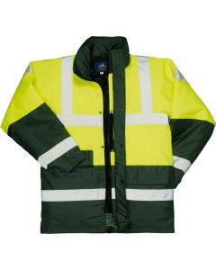 Hi-Vis Contrast Traffic Jacket - S466YGRL