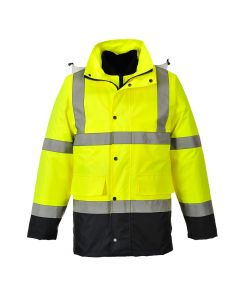 Hi-Vis 4-in-1 Contrast Traffic Jacket - S471YNRL