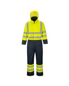Portwest Hi-Vis Contrast Coverall - Lined - S485