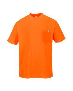 Day-Vis Pocket Short Sleeve T-Shirt - S578ORR4XL