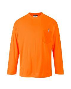 Day-Vis Pocket Long Sleeve T-Shirt - S579ORR4XL