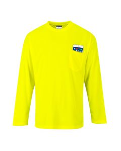 Portwest Day-Vis Pocket Long Sleeve T-Shirt - S579