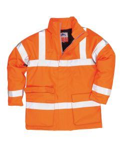 Bizflame Rain Hi-Vis Antistatic FR Jacket - S778ORR4XL