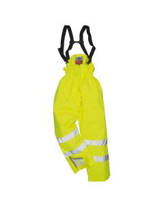 Portwest Bizflame Rain Unlined - Hi-Vis Antistatic FR Trouser - S780