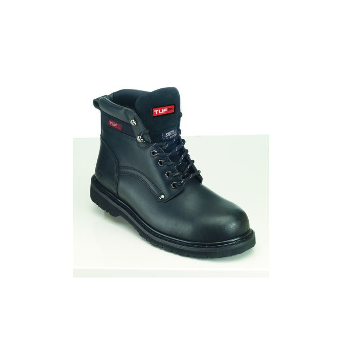 TUF PRO GOODYEAR WELTED S1P BLACK SAFETY BOOT WITH MIDSOLE 102029