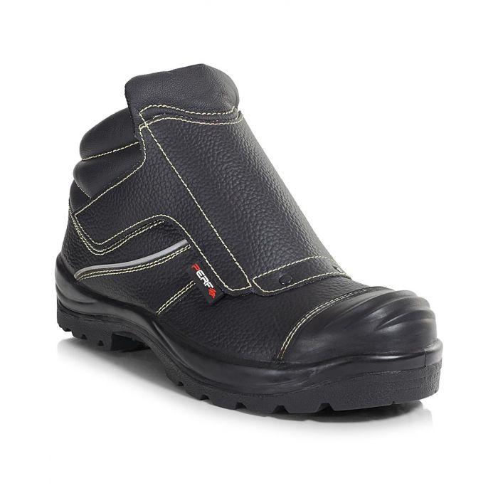 PB94C-BLK Velcro Ankle Length Welders Boot c/w Cap