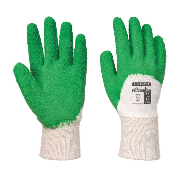 Portwest Latex Open Back Crinkle Glove - A171