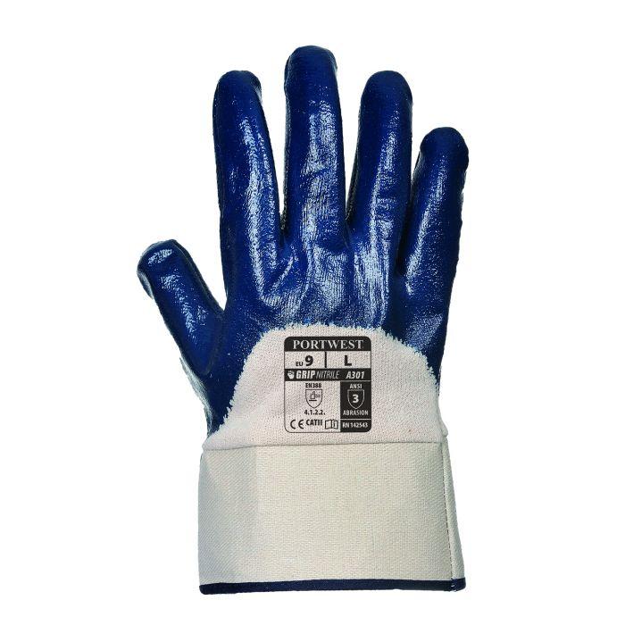 Portwest Nitrile Safety Cuff Glove - A301