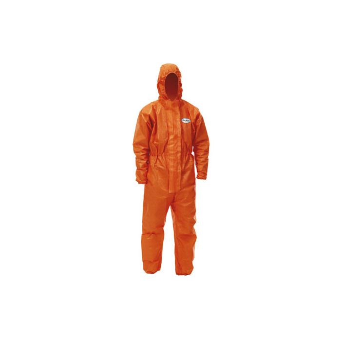 KLEENGUARD A80 SILICON FREE AND ANTI STATIC ORANGE DISPOSABLE COVERALL