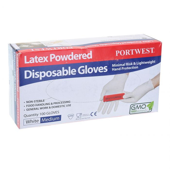 Portwest Powdered Latex Disposable Glove - A910