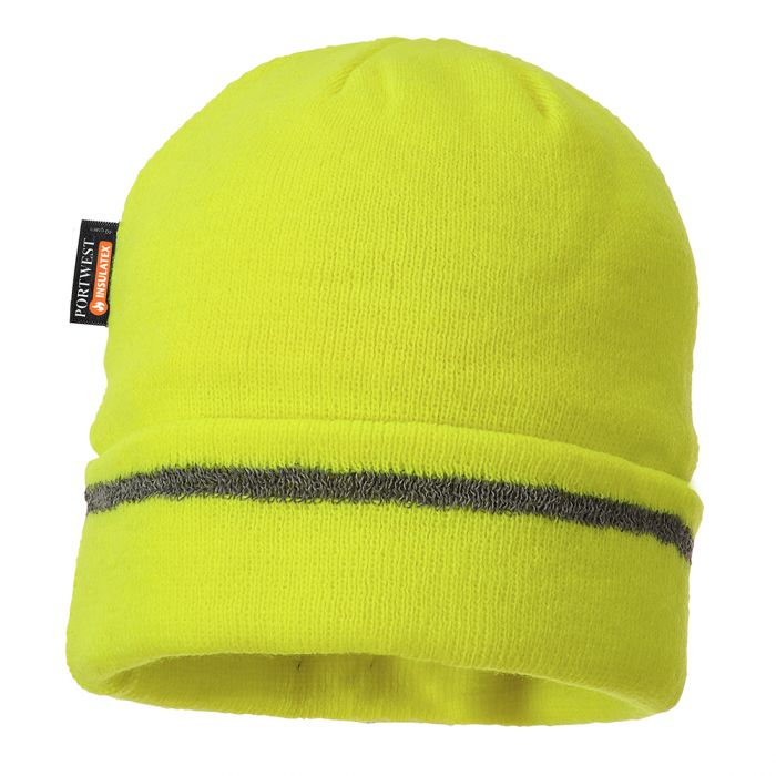 Portwest Reflective Trim Knit Hat Insulatex Lined - B023