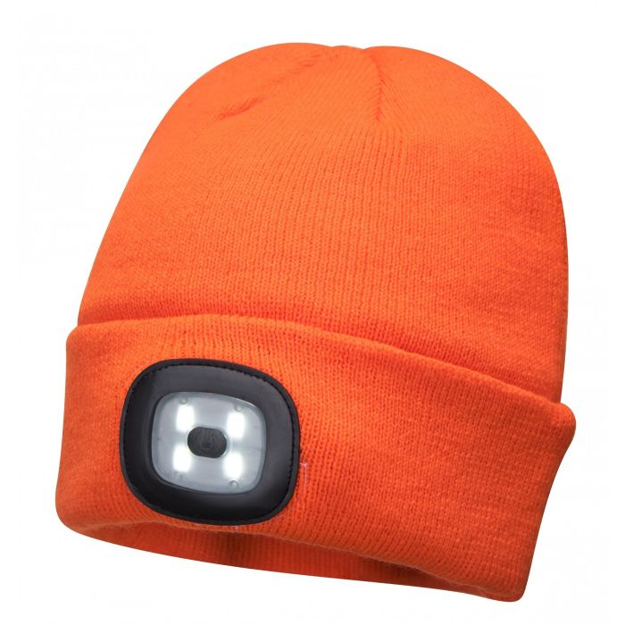 Portwest Beanie with built in LED Head Light - B029