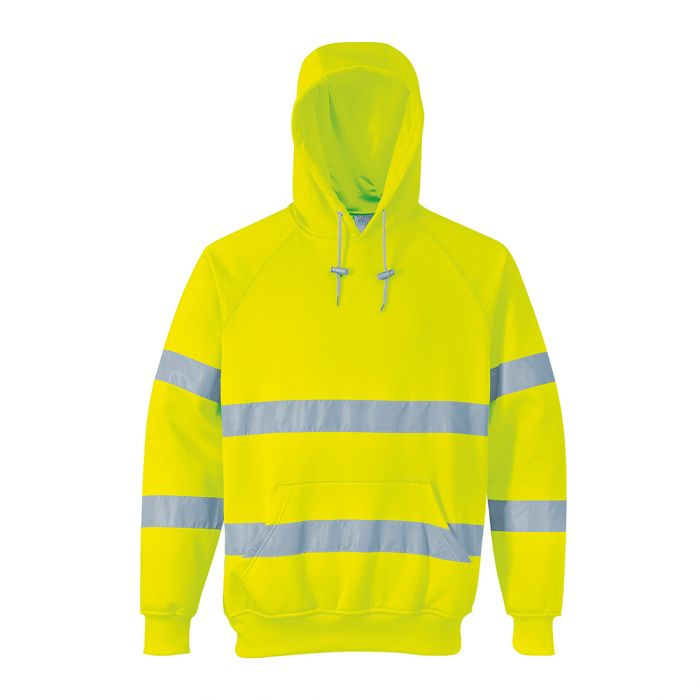 Portwest Hi-Vis Hooded Sweatshirt - B304