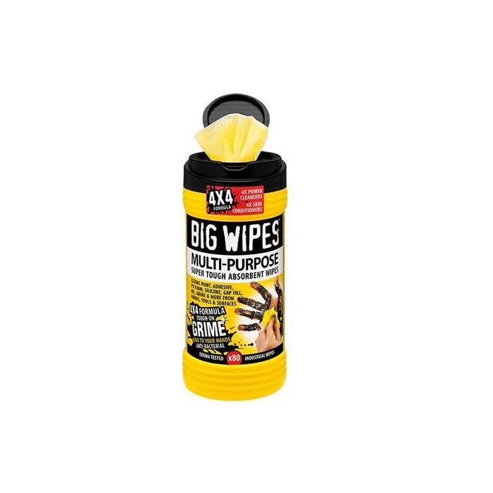 BIG WIPES 4x4 MULTI-PURPOSE BLACK TOP TUB OF 80 - BGW2410