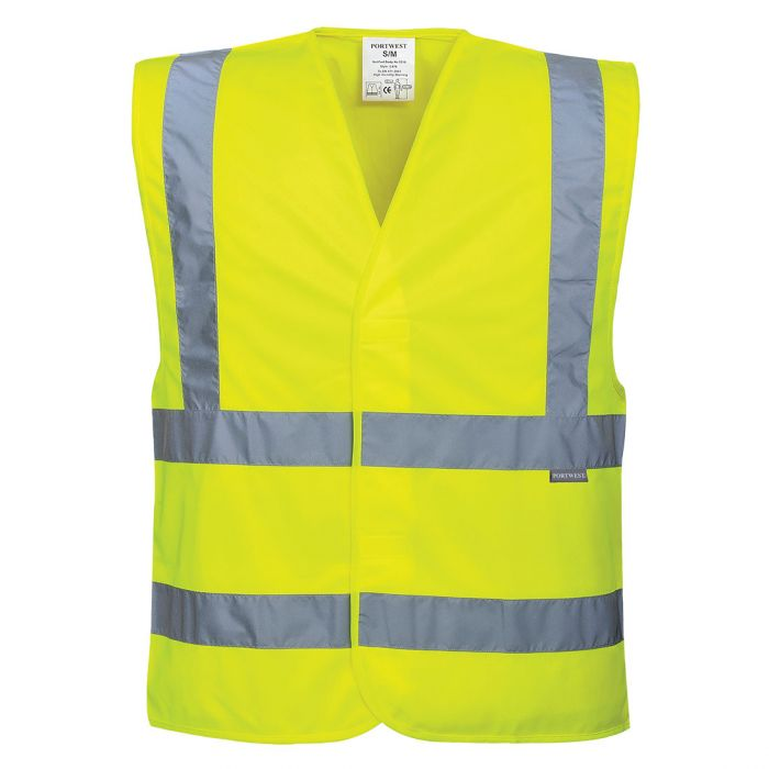 Portwest Hi-Vis Two Band & Brace Vest - C470