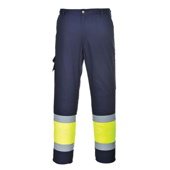 Portwest Hi-Vis Two Tone Combat Trousers - E049