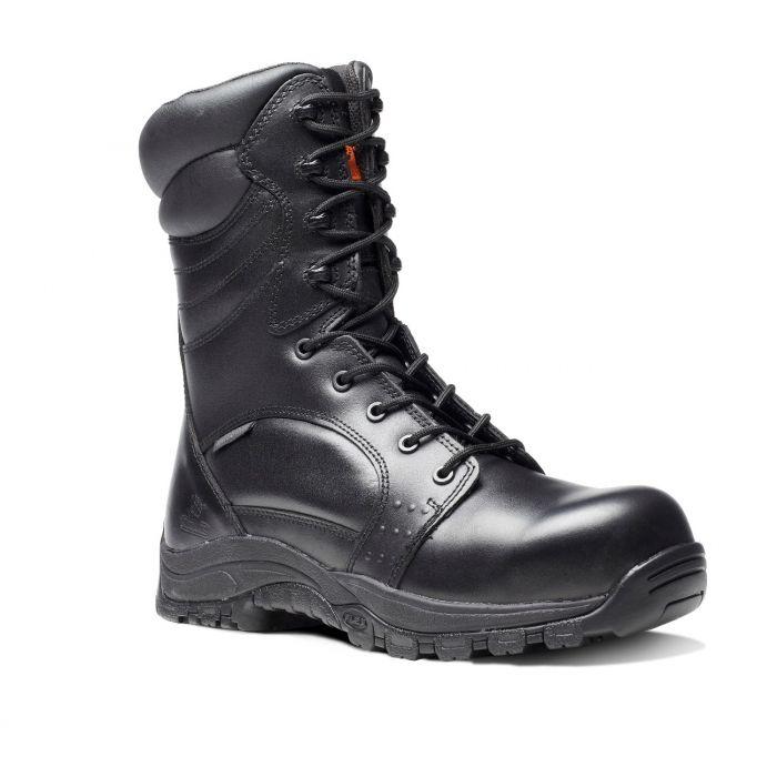 E2020-INVINCIBLE BLACK S3 HI-LEG ZIP SIDE WATERPROOF BOOT