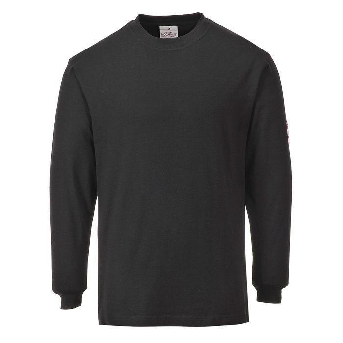 Portwest Flame Resistant Anti-Static Long Sleeve T-Shirt - FR11