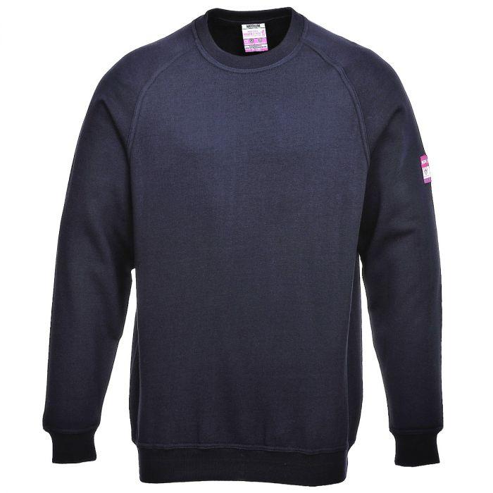 Portwest Flame Resistant Anti-Static Long Sleeve Sweatshirt - FR12