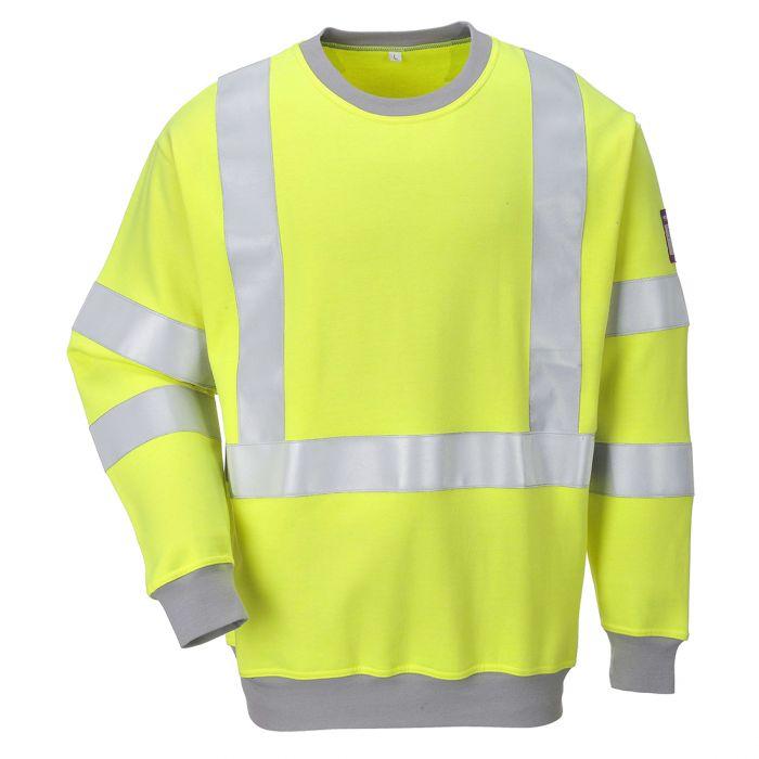 Portwest Flame Resistant Anti-Static Hi-Vis Sweatshirt - FR72