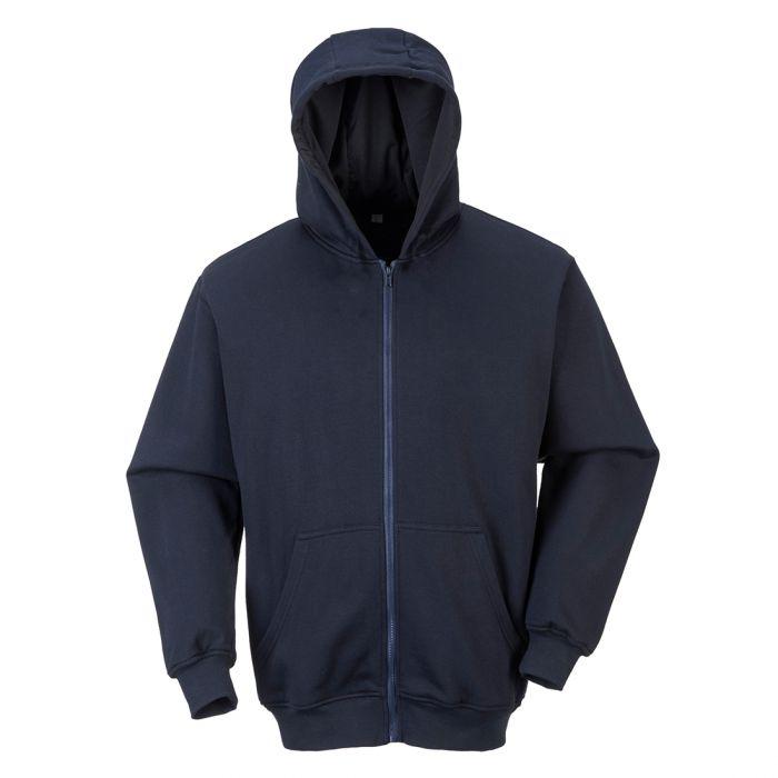 Portwest FR Zip Front Hooded Sweatshirt - FR81