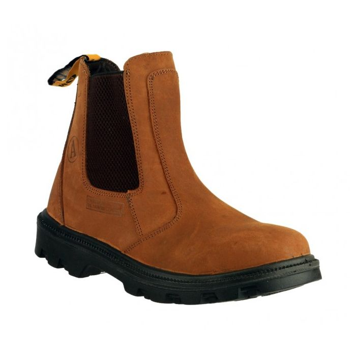Size 9 only - Amblers FS131 Brown Safety Dealer Boot