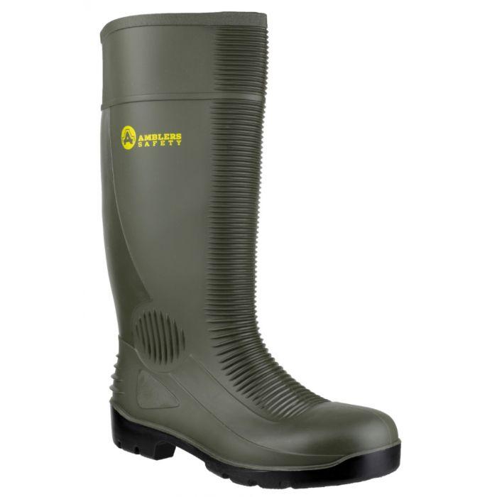 Amblers Green S5 Unisex Steel Toe Cap Wellies FS99