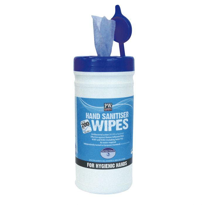 Portwest Hand Sanitiser Wipes (200 Wipes) - IW40