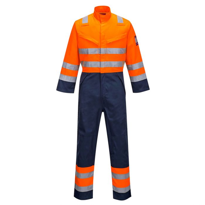 Portwest Modaflame RIS Navy/Orange Coverall - MV29