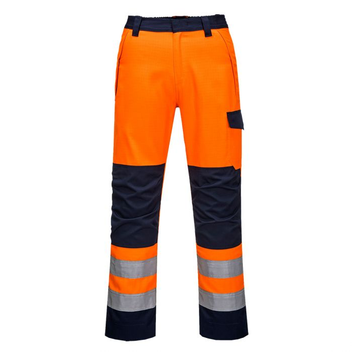 Portwest Modaflame RIS Orange/Navy  Trouser - MV36