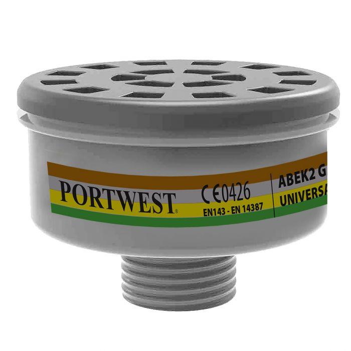 Portwest ABEK2 Gas Filter Universal Tread - P926
