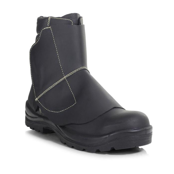 PB26A-BLK Aluminium Velcro Foundry Boot