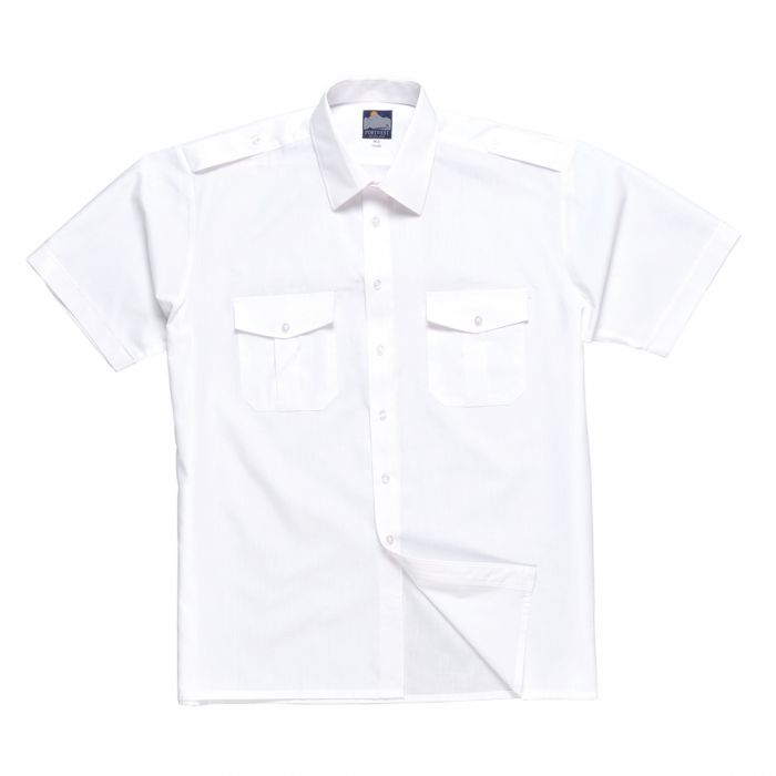Portwest Pilot Shirt, Short Sleeves - S101