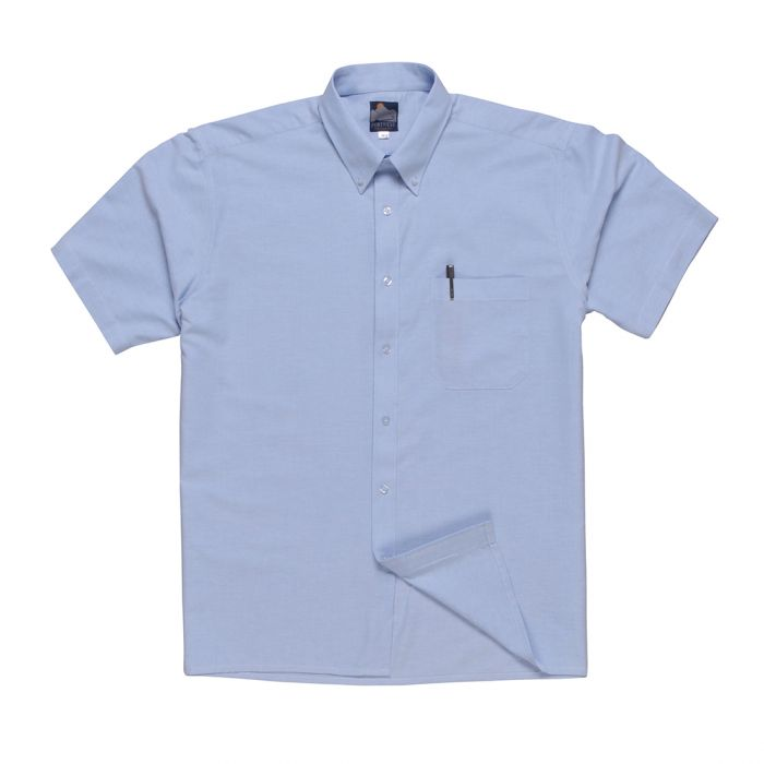 Portwest Oxford Shirt, Short Sleeves - S108