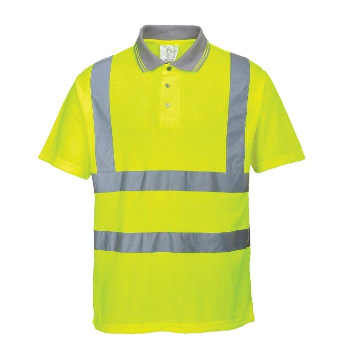 Portwest Hi-Vis Ribbed Polo Shirt - S177