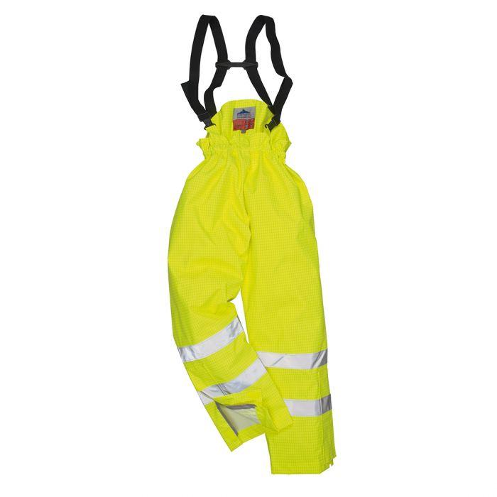 Portwest Bizflame Rain Lined- Hi-Vis Antistatic FR Trouser - S781