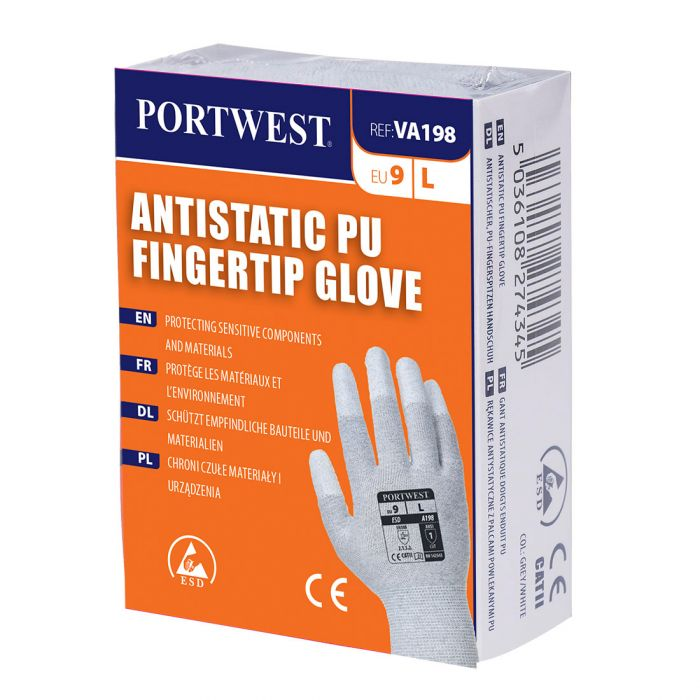 Portwest Vending Antistatic PU Fingertip Glove - VA198