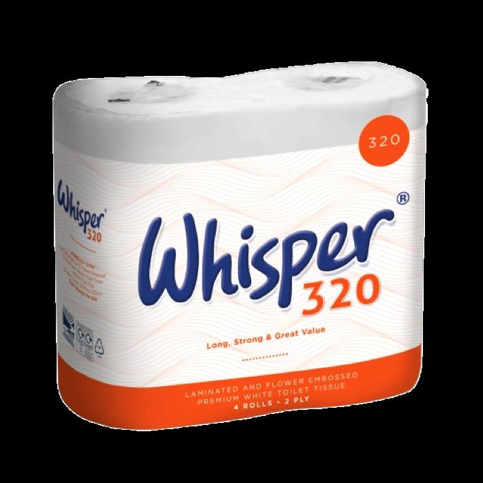 WHISPER TOILET ROLLS (PACK OF 36 ROLLS) W17151