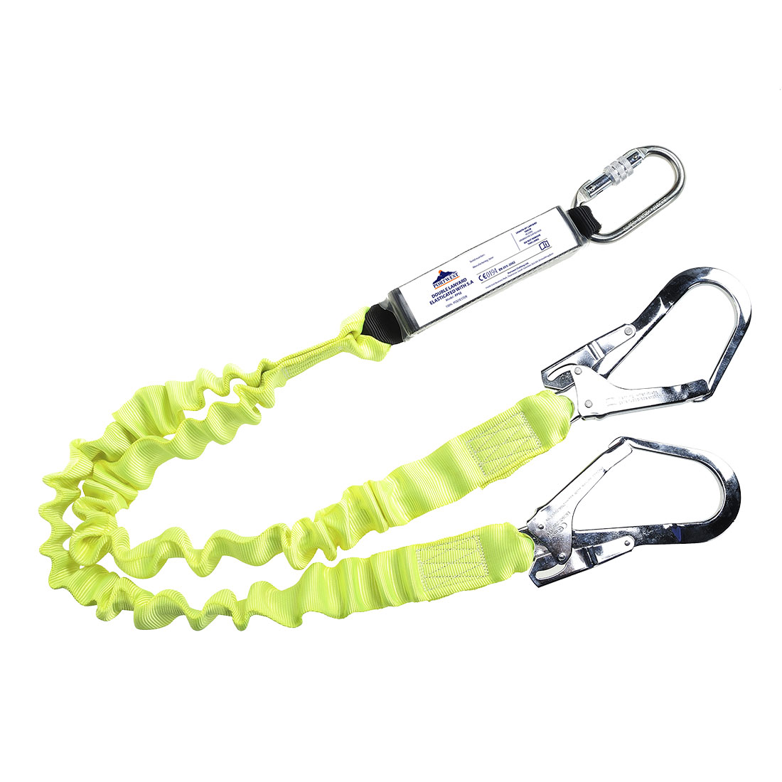Portwest Double Lanyard Elasticated With Shock Absorber - FP52