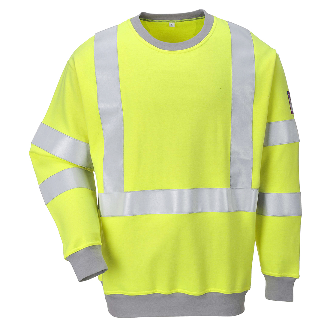 Portwest Flame Resistant Anti-Static Hi-Vis Sweatshirt - FR72
