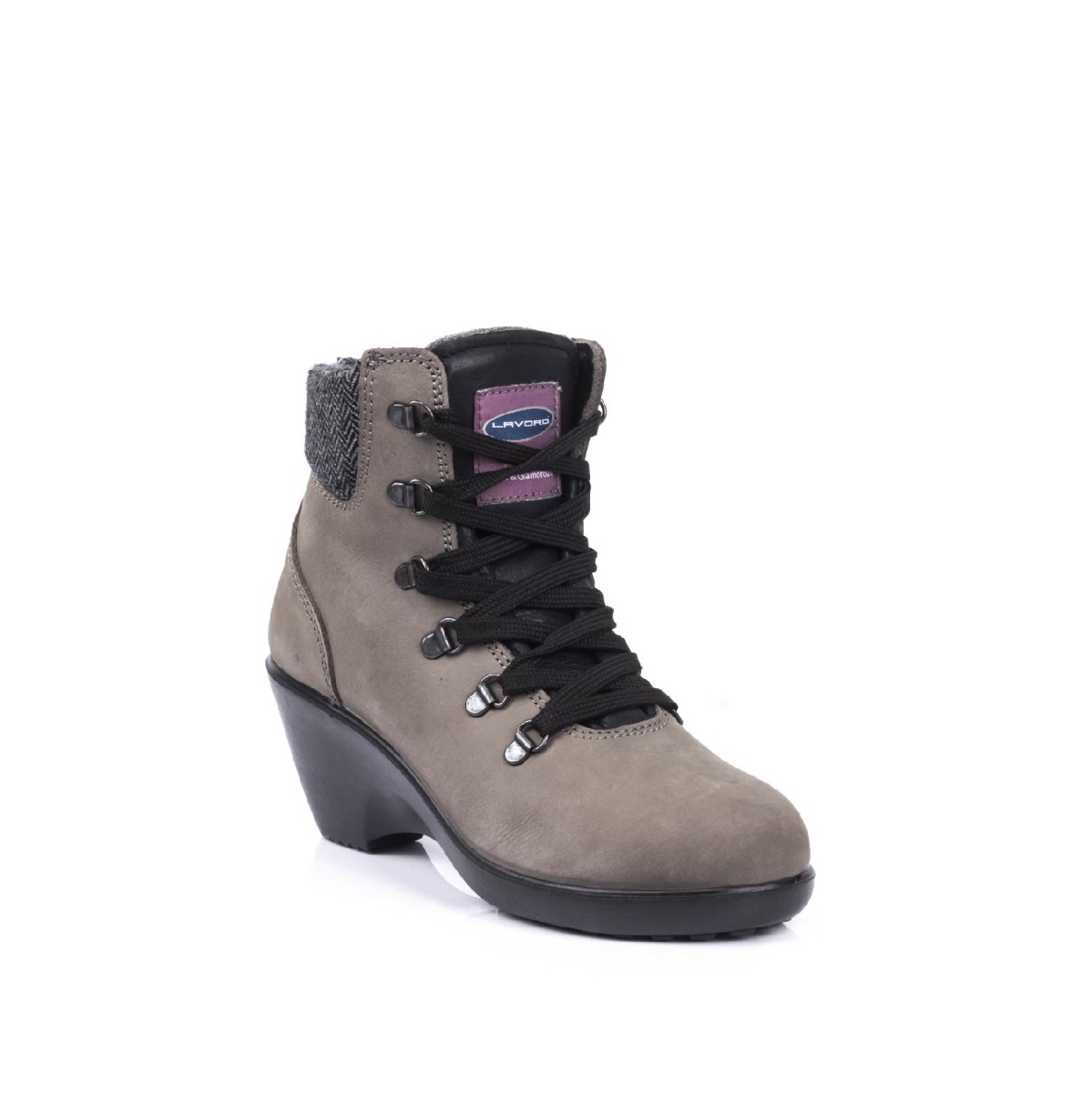 1033.06 LAVORO GEENA GREY HEELED SAFETY BOOT