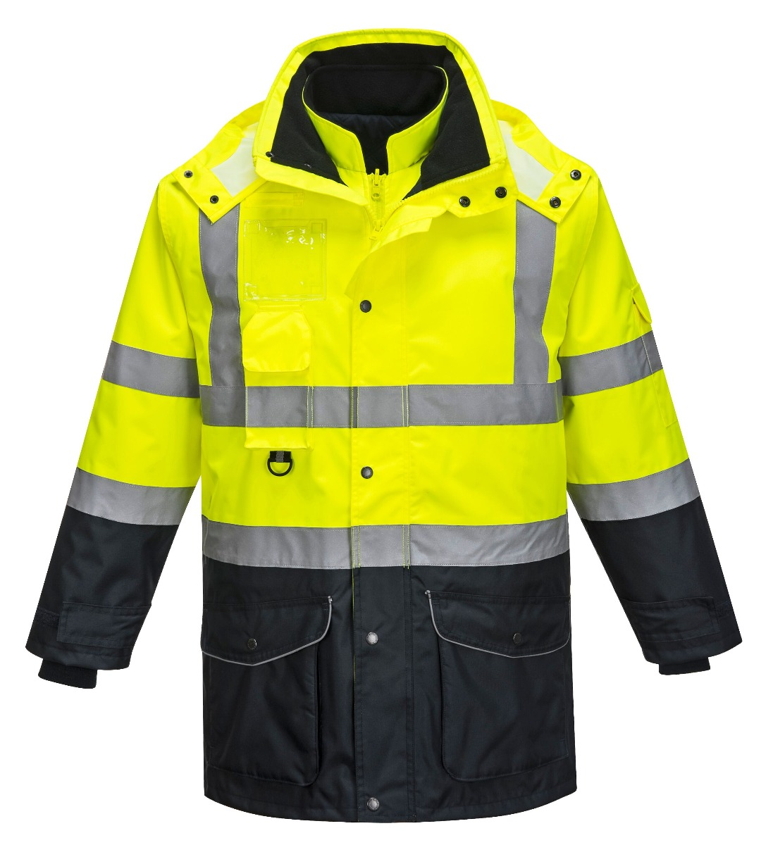 Portwest Hi-Vis 7-in-1 Contrast Traffic Jacket - S426