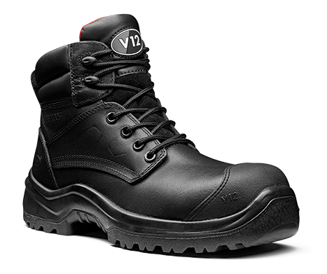 V12 IBEX BLACK WATERPROOF SAFETY BOOT STS - V1801